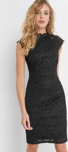3aac6cdc1c494f Czarna sukienka ORSAY z krótkim rękawem z dzianiny