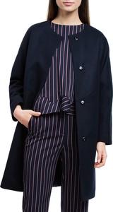 Granatowy płaszcz Wittchen w stylu casual
