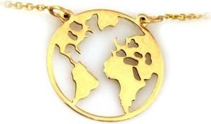 Lovrin Złoty naszyjnik 585 celebrytka globus ziemia