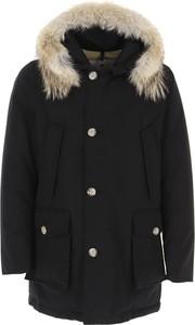 Czarna kurtka Woolrich z bawełny