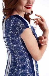 Niebieska sukienka POTIS & VERSO z żakardu