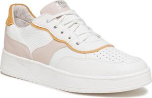 Buty sportowe Ryłko sznurowane na platformie ze skóry