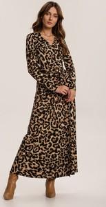 Brązowa sukienka Renee maxi