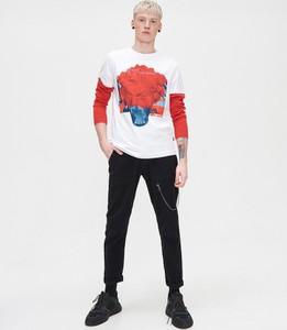 Koszulka z długim rękawem Cropp z nadrukiem