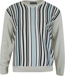 Sweter Belika z okrągłym dekoltem w młodzieżowym stylu
