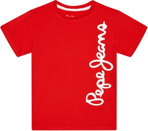 Koszulka dziecięca Pepe Jeans z krótkim rękawem dla chłopców z jeansu