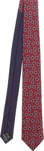 Czerwony krawat Missoni