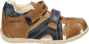 Brązowe buty dziecięce letnie Geox na rzepy