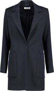 Granatowy płaszcz Lavard z tkaniny