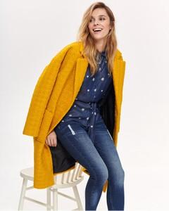 Żółty płaszcz Top Secret w stylu casual