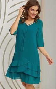 Zielona sukienka Kaskada