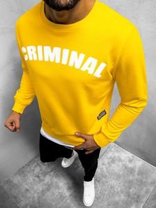 Żółta bluza Ozonee w młodzieżowym stylu z bawełny
