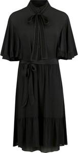 Granatowa sukienka Twinset z żabotem
