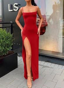 Sukienka Cikelly na ramiączkach dopasowana hiszpanka