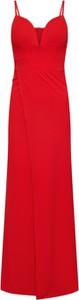 Sukienka WAL G. z dekoltem w kształcie litery v maxi na ramiączkach