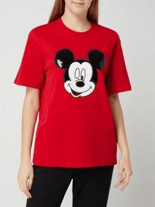 Czerwona bluzka S.Oliver Red Label z krótkim rękawem z bawełny w młodzieżowym stylu