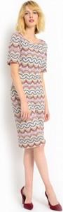 Sukienka dzianinowa ze wzorem typu missoni potis & verso flores