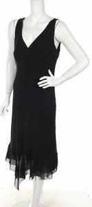 Czarna sukienka Agb na ramiączkach prosta maxi