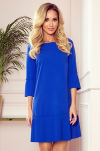 Niebieska sukienka NUMOCO mini oversize
