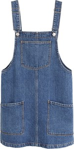 Niebieska sukienka Mango w stylu casual mini na ramiączkach