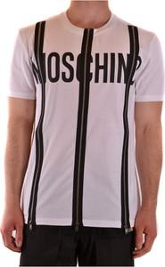 Różowy t-shirt Moschino