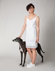 Sukienka Molton z bawełny na ramiączkach mini