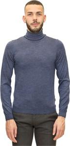 Niebieski sweter Hugo Boss w stylu casual