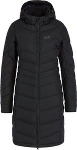 Czarny płaszcz Jack Wolfskin