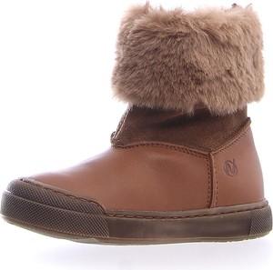 Brązowe buty dziecięce zimowe Naturino