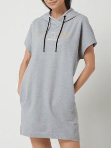 Sukienka DKNY z dresówki mini z krótkim rękawem
