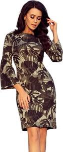 Sukienka NUMOCO z okrągłym dekoltem midi w stylu casual