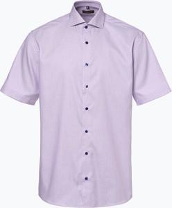 Fioletowa koszula Eterna z krótkim rękawem