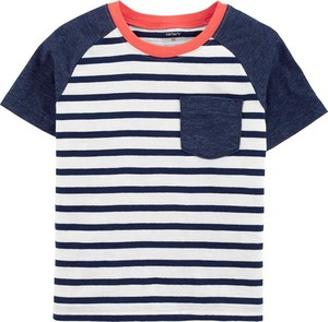Koszulka dziecięca Carter's w paseczki z krótkim rękawem z bawełny