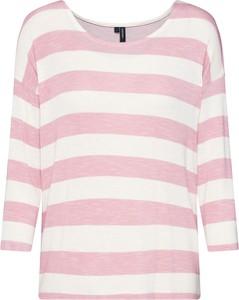 Bluzka Vero Moda w stylu casual z okrągłym dekoltem