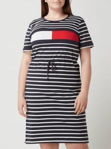 Sukienka Tommy Hilfiger z bawełny z okrągłym dekoltem mini