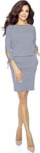 Sukienka Bergamo mini z długim rękawem