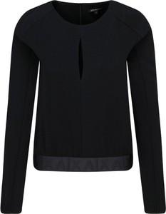 Czarna bluzka Armani Jeans z długim rękawem z okrągłym dekoltem