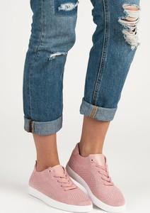 Buty sportowe Czasnabuty w sportowym stylu niskie z płaską podeszwą