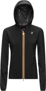 Czarna kurtka K-Way z polaru w sportowym stylu