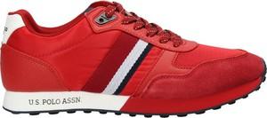 Czerwone buty sportowe U.S. Polo