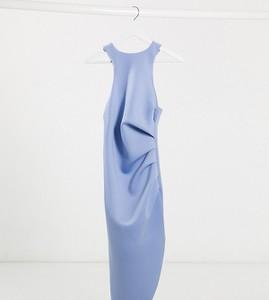Niebieska sukienka Asos bez rękawów midi