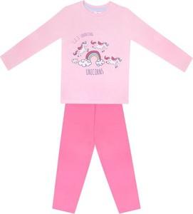 Różowa piżama YoClub dla dziewczynek