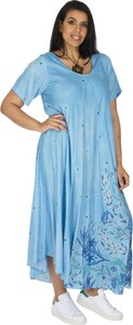 Niebieska sukienka Aller Simplement maxi