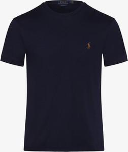 Granatowy t-shirt POLO RALPH LAUREN z bawełny