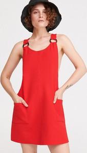 Czerwona sukienka Reserved bez rękawów