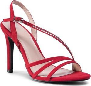 Czerwone sandały Jenny Fairy ze skóry z klamrami