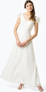Sukienka Luxuar Fashion z krótkim rękawem z szyfonu rozkloszowana