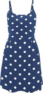 Niebieska sukienka bonprix bpc bonprix collection na co dzień