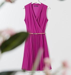 Fioletowa sukienka Mohito bez rękawów