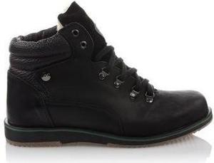 Czarne buty zimowe Komodo w stylu casual ze skóry